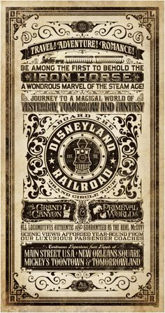 vintage circus sideshow western ad design typography