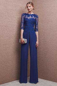 Mono de fiesta azul 6653 de It's My Party by It's My Party | Boutique Clara