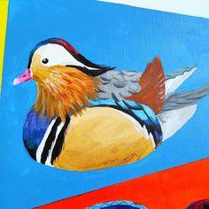"""293 kedvelés, 4 hozzászólás – Horváth Kincső Art (@horvathkincso_art) Instagram-hozzászólása: """"Állati színek: Mandarinréce 💛🧡💙🖤 #wattacolours #amazingnature #acrylicpainting #canvas…"""" Rooster, Bird, Painting, Animals, Instagram, Animales, Animaux, Birds, Painting Art"""