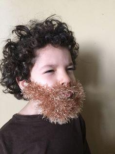 Handmade Crochet kids Beard Only dettached beard by SueStitch