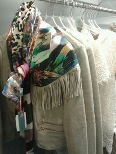 My handmade scarves Made by Keet displaced in a shop in Tiel. Proud