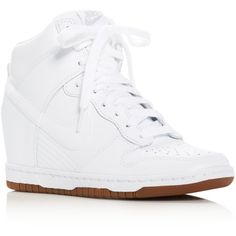 Nike Dunk Sky Hi Essential High Top Wedge Sneakers ( 120) ❤ liked on  Polyvore d530c712417