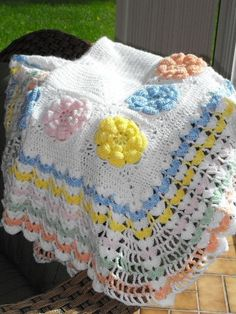 SALE  Ruffles and Flower Multi Color by HotOffTheHookCrochet, $50.00    Beautiful