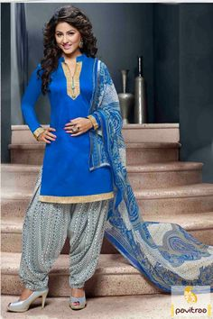 Star plus tv serial actress Akshara Hina Khan special blue grey punjabi patiala salwar suit online shopping a lowest price. Purcahse online this cotton casual patiala suit with discount offer. #salwarkameez, #cottonsalwarkameez, #casualsalwarlameez, #printedsalwarkameez, #patialasalwarkameez, #churidarsalwarkameez, #discountoffer, #pavitraafashion, #utsavfashion http://www.pavitraa.in/store/patiala-salwar-suit/ callus:+91-7698234040