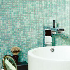 Amalfi Coast Mosaic - tile idea for kitchen back splash Mosaic Bathroom, Glass Mosaic Tiles, Wall And Floor Tiles, Wall Tiles, Wet Rooms, Kitchen Backsplash, Bathroom Inspiration, Hearth, Sink