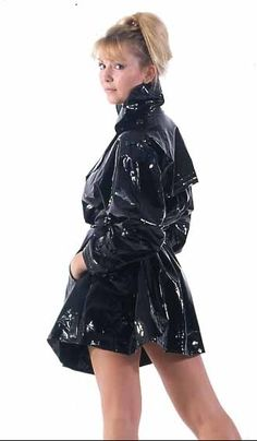 I love women that turn-sexy for a photo - wearing tight  shiny PVC coats- nerver fails - I always wonder if she wearing PVC Lingerie.