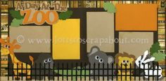 A Day At The Zoo Scrapbook Page Kit [atriptothezoo12] - $7.99 :: Lotts To Scrap About - Your Online Source for Scrapbook Page Kits!
