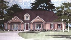 Eplans Traditional House Plan - Three Bedroom Contemporary - 2513 Square Feet and 3 Bedrooms from Eplans - House Plan Code HWEPL74141