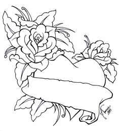 Heart Tattoo Designs With Roses