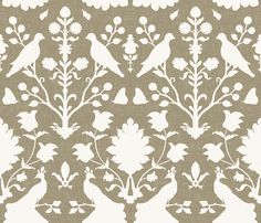 Oiseaux in Mushroom by sparrowsong - looks a whole lot like Schumacher Chenonceau