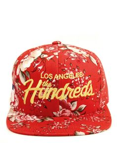 The Hundreds Clothing Team Snapback Hat - Red $29.00