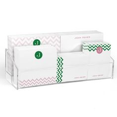 Pink and Green Chevron Post-it® Notes Ensemble