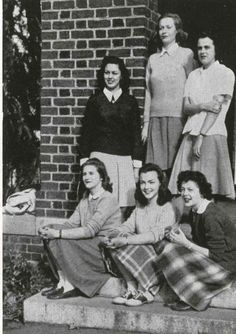 Carroll Cone Saxton, class of '46. Passed away on December 27, 2015 at the age of 91. Featured here with Dorothy Sue Caldwell, Margaret Carmichael, Marjorie Christian, Elinor Clement, and Jane Cook. http://www.legacy.com/obituaries/sptimes/obituary.aspx?n=carroll-cone-cozart-saxton&pid=177104933&fhid=5875