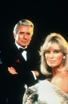 Dynasty (1981) Blake Carrington and Krystle Carrington John Forsythe was so smooth on this show.