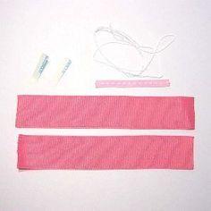 木の葉型リボンの作り方(材料&道具) Ribbon, Tape, Band, Ribbon Hair Bows, Bows, Bow