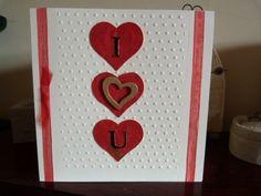Three Heart Valentine Card £1.75