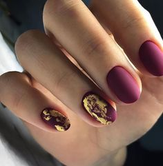 Purple and Golden shad mix nail arts - nail arts ideas Hot Nails, Hair And Nails, Acrylic Nail Designs, Nail Art Designs, Fabulous Nails, Trendy Nails, Nail Arts, Manicure And Pedicure, Nails Inspiration