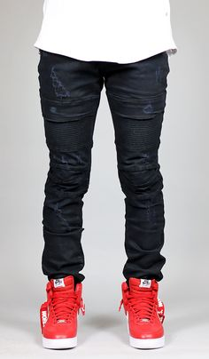 Black Mir Moto Jean
