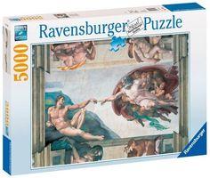Ravensburger Puzzle - Michelangelo Creation Of Adam (5000Pcs) (17408)  Manufacturer: Ravensburger Enarxis Code: 015730 #toys #puzzle #Ravensburger #Michaelangelo