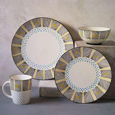 Potter's Workshop Dinnerware Set - Yellow Dots