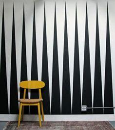 wände streichen ideen - weiß und schwarz - 62 kreative Wände streichen Ideen – interessante Techniken