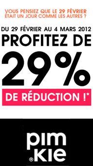 -29% sur tout le site du 29/02/2012 au 04/03/2012