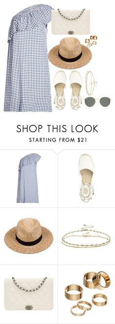 """""""Untitled #3563"""" by magsmccray ❤ liked on Polyvore featuring Velvet, Lack of Color, ASOS, Chanel, Apt. 9 and Ray-Ban"""