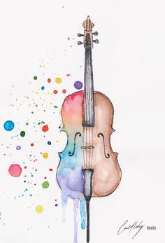Will Writing Fees Malaysia Referral: 7124022503 Music Painting, Music Artwork, Watercolor Pictures, Watercolor Paintings, Cello Tattoo, Tattoo Sketch, Cello Art, Art Gallery, Art Et Illustration