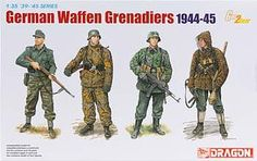 1/35 German Waffen Grenadiers 1944-45 (dml6704) DML Plastic Model Military Figures