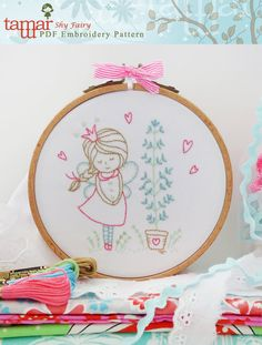 Embroidery Pattern, Instant Download, Needlecraft Design - Shy Fairy