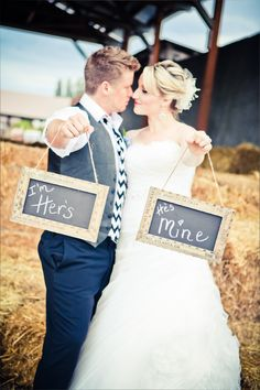 """I'm Her's"" & ""He's Mine"" via Heather Lynn Photographie"