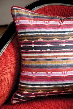Cawdor fabric by Nina Campbell distributed by Osborne & Little www.osborneandlittle.com