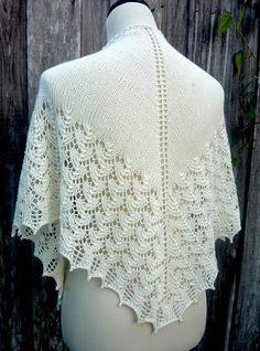 Ravelry: MyDailyFiber's Beaded Shawl for a Bride lace shawl Fleece Patterns, Easy Crochet Patterns, Knitting Patterns, Knitted Shawls, Crochet Shawl, Knit Crochet, Lace Knitting, Shawls And Wraps, Free Pattern