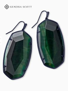 The Faceted Danielle Gunmetal Statement Earrings in Green Tiger's Eye are a sparkling pair your mom will want to wear everywhere.