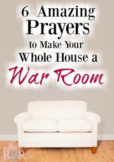 6 Amazing Prayers to Make Your Whole House a War Room ⋆ A Little R & R Prayer Wall, Prayer Room, Prayer Board, My Prayer, Prayer Times, Husband Prayer, Christian Decor, Christian Living, Christian Life