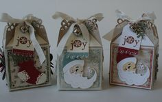 Christmas Favor Boxes Featuring Magnolia Doohickeys - Scrapbook.com