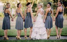 Multi Dress Syles- Bride with BridesMaids