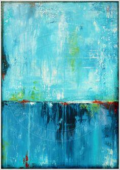 ANTJE HETTNER* Bild ORIGINAL Kunst GEMÄLDE Leinwand MALEREI abstrakt XXL Acryl (Diy Painting Acrylic)