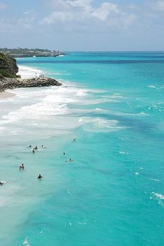 Bermuda pink sand beaches and beautiful blue water makes the color inspiration run wild!