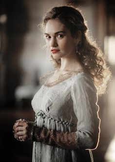 """She's so open to the world and her heart is so big. I think I fell in love with everyone when I was growing up too, and my friends say I do fall in love really easily."" - Lily James on playing Natasha Rostova for War and Peace"