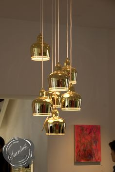 Alvar Aalto's modernist A330S Golden Bell lamp is the ultimate mid century modern pendant light! The iconic A330S pendant lamp was designed by the Finnish architect Alvar Aalto in 1937.  http://www.stardust.com/aalto-a330s.html