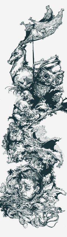 Three sleeping king by Viktor Miller-Gausa, via Behance