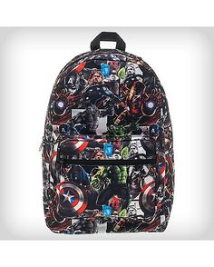 Marvel Avengers Comic Book Backpack - Spencer's