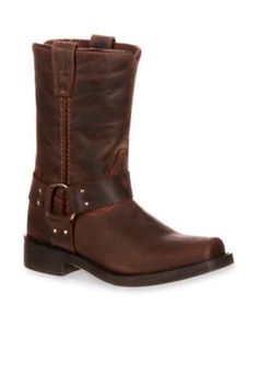 DURANGO Distressed Brown Harness Western Boot-Toddler-Youth Sizes