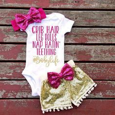 Cheap baby girl, Buy Quality baby directly from China baby girl summer Suppliers: Baby Girls Summer Short Sleeve Tops Romper Sequin Pants Outfits Cute Kids Summer Clothes Sets So Cute Baby, Cute Baby Clothes, Cute Babies, Summer Clothes, Future Daughter, Future Baby, Baby Girl Fashion, Kids Fashion, Newborn Fashion