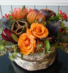 Colorful and Textural Centerpiece - Aspen Branch Original - www.aspenbranch.com