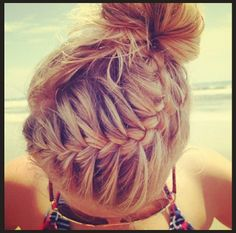 Instagram Insta-Glam: French braided bun