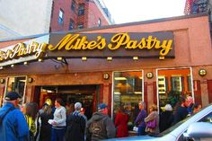 Mike's Pastry, The North End, Boston, Massachusetts. A little something sweet after visiting any one of the great italian restaurants in Boston's North End.