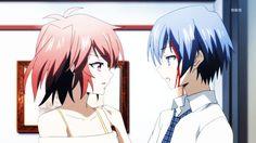 Haru and Tokaku (Akuma no Riddle) Yuri Anime, Anime Art, Ghost Hunt Anime, Riddle Story Of Devil, Akuma No Riddle, Trinity Seven, Riddler, Ghost Hunting, Manga Love