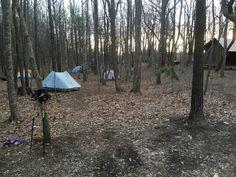 Hawk Mountain shelter on the Appalachian Trail